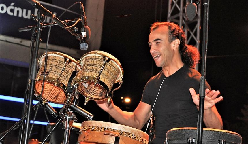 World-renowned percussionist Rhani Krija © Sulejman Mulaomerovic