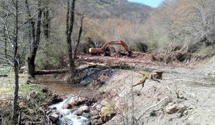 Construction site on River Mala Bjelava © Robert Oroz