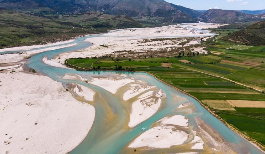 94 Prozent der albanischen Bevölkerung ist für einen Vjosa-Nationalpark. © Piotr Bednarek/Wolne Rzeki