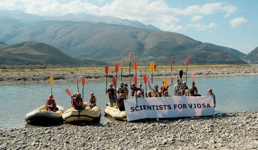 Scientists united for the protection of the Vjosa in Albania © Nick St. Oegger