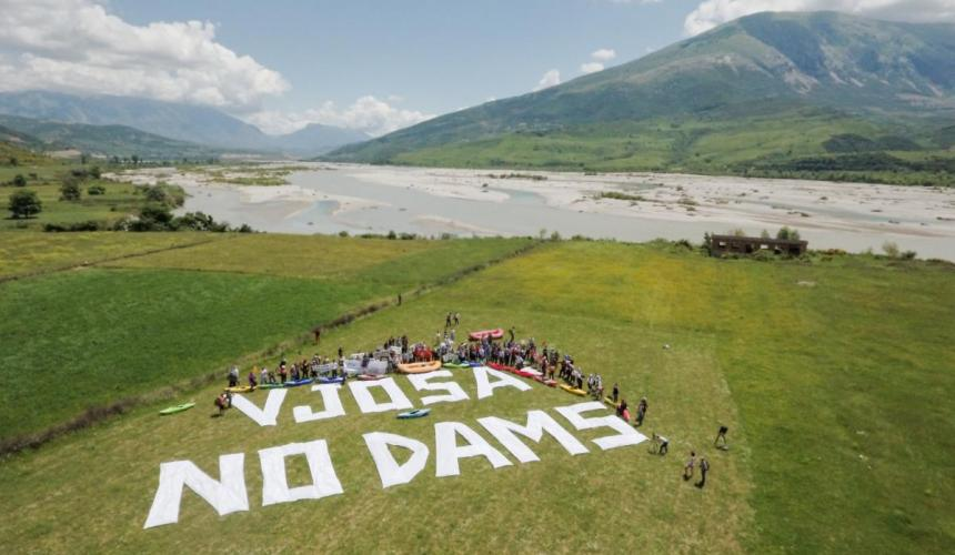 The Vjosa is the last big wild river system in Europe that is allowed to flow unobstructed. Help us keep it this way! © Oblak Aljaz