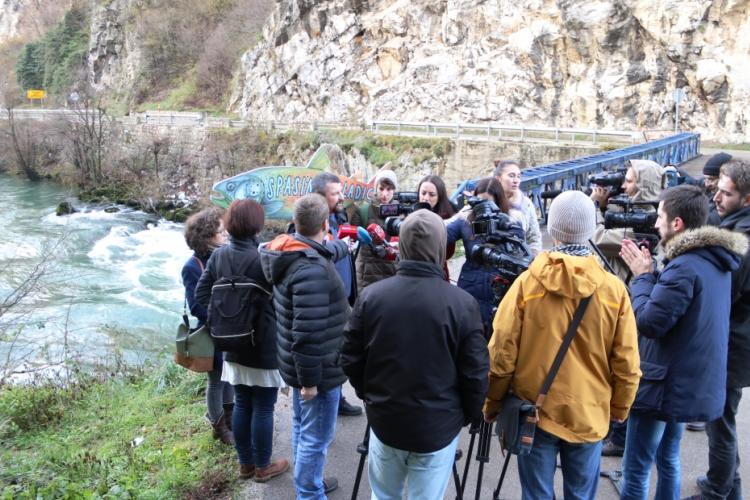 Bewohner wollen das geplanten WKW am Vrbas nicht und fürchten um ihr Trinkwasser. © Center for Environment