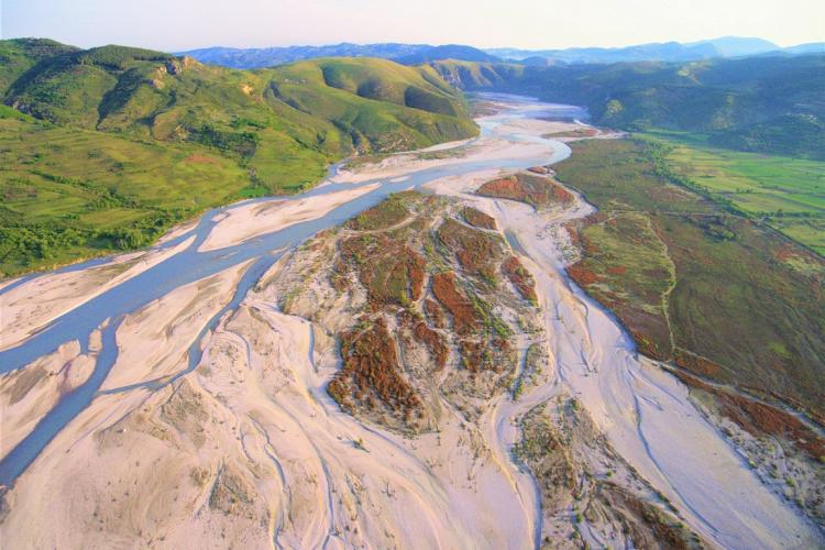 The Vjosa in Albania – Europe's last untouched river beauty – is at risk. © Gregor Subic