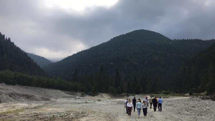 Kosovo: Destroyed river bed inside Bjeshket e Nemuna National Park as a result of  Kelag (KelKos) hydropower construction © Shpresa Loshaj
