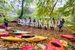 Mit einer ungewöhnlichen Aktion forderten Riverwatch am 21.10.2017 gemeinsam mit Kajakfahrern aus dem Kamptal den Abriss des Staudamms bei Rosenburg © Peter  Faschingleitner