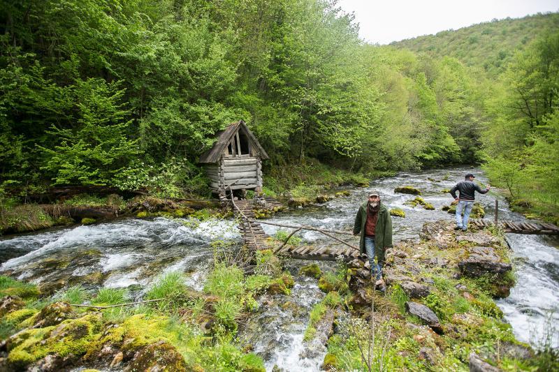 Sana river springs. Medna HPP is located just few hundred meters further © Majda Slámová / Arnika