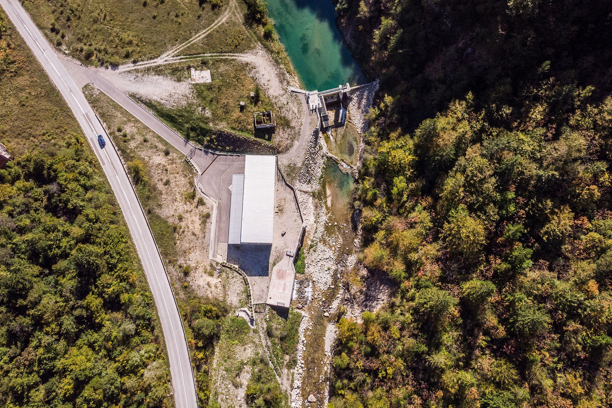This is what destructive hydropower looks like. Below the dam, the river is reduced to a trickle, here at the Ugar river in Bosnia and Herzegovina © Amel Emric