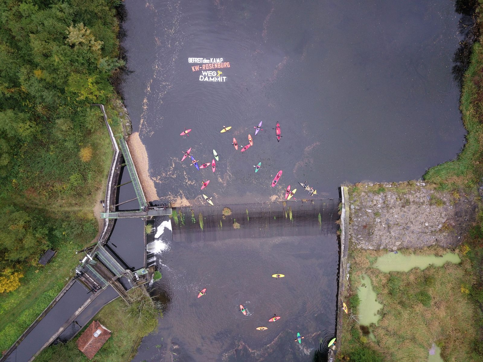 The energy Austrian energy corporation EVN Group plans to heighten the dam wall drastically. We demand its removal. © Riverwatch