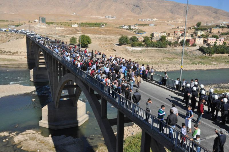 Road blockage as protest against the relocation of Hasankeyf. © Initiative to Keep Hasankeyf Alive