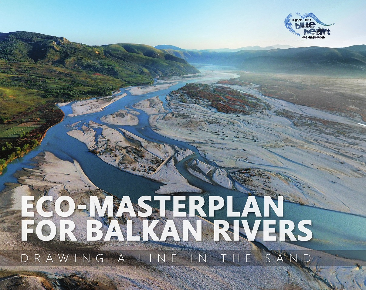 The Eco-Masterplan. More than 80,000 kilometers of Balkan rivers and streams were scientifically assessed, 76% thereorf were defined as No-go zones for the construction of hydropower plants. The Blue Heart of Europe must continue to beat. © Cover: Save the Blue Heart of Europe. Cover photo: Gregor Šubic