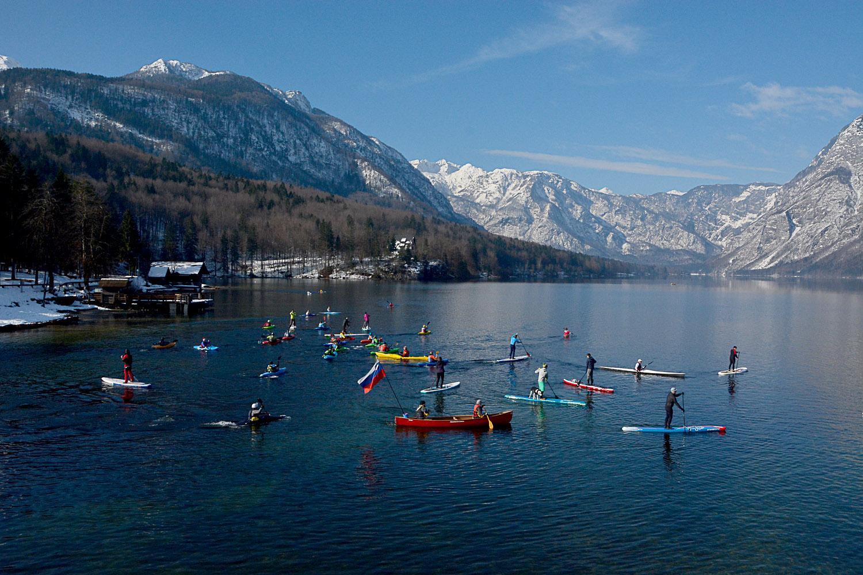 Ort der Auftaktveranstaltung am Bohinj-See in Slowenien © Peter Koren